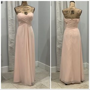 Bill Levkoff floor length strapless gown size 10